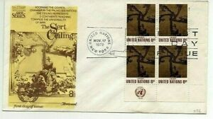 UN FDC 1972 3 x first day covers The Sert Ceiling