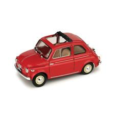 FIAT NUOVA 500 APERTA 1959 ROSSO CORALLO 1:43 Brumm Auto Stradali Die Cast