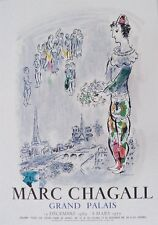 Marc Chagall Exhibition Poster The Magician Paris 1970 Mourlet Stone Litho 01667