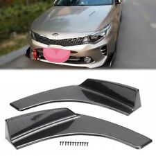 Universal Carbon Fiber Pattern Front Bumper Lip Splitter Spoiler Diffuser Body