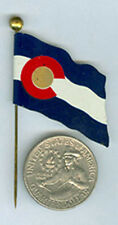 OLD DENVER ADV BAKERY COLO FLAG STICK PIN * FREE USA SHIP & NOW ON SALE * AD171