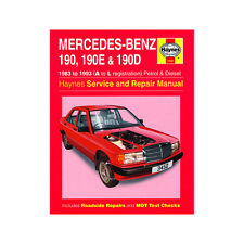 Mercedes 190 190E 190D 1.8-2.6 Pet 2.0 2.5 Dsl 83-93 (A to L Reg) Haynes Manual