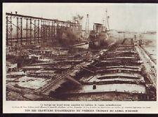 1930  --  CHANTIERS DU CANAL D ALSACE   F976