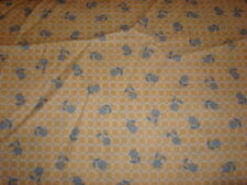 12 Yards Yellow Check with Blue Dots and Flowers