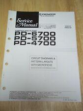 Pioneer Service Manual~PD-6700/5700/4700 CD Compact Disc Player~Original~Repair~