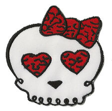 Ecusson patche thermocollant Skull lady love Manga patch