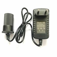 EU Plug AC/DC 12V 2A 24W Power Adapter with Car Charger Cigarette Lighter Socket