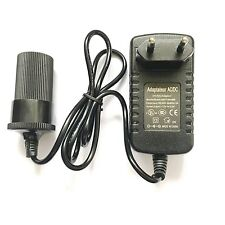 EU Plug AC/DC 12V 2A 24W Power Adapter with Car Charger Cigarette Lighter Socket