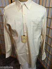 Tommy Bahama Yellow Cotton Buttoned Long Sleeve Dress Shirt Mens Size 16 34 35