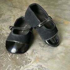 NWOB Ralph Lauren EU 17 or UK 1.5 Baby Black Patent & Suede Mary Jane RRP £65