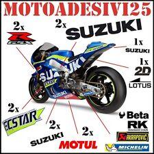 kit adesivi SUZUKI GSX R grafiche replica stile MOTO GP sponsor carene pista