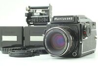 [N MINT] MAMIYA M645 1000S + Sekor 80mm f/2.8 + Waist Level Finder From JAPAN