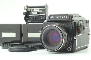[N MINT] MAMIYA M645 1000S + Sekor 80mm f/2.8 + Waist Level Finder From JAPAN