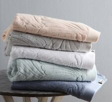 4 x florence broadhurst Fingers Large Bath Towel Cotton Terry Silver White Blue
