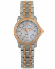 CARL F. BUCHERER WOMEN'S PATRAVI STEEL 18K ROSE GOLD 27mm AUTOMATIC WATCH $5,700