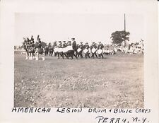 1945 Perry, NY American Legion Drum & Bugle Corp marching 4x5  Photo