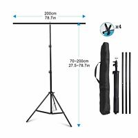 Meking T-Shape Backdrop Stand 2M X2M Background Support System &Carrying Bag Kit