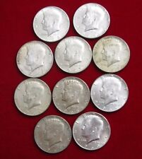 Half Roll (10 Coins) Circulated 1965 - 1969 40% Silver Kennedy Half Dollars