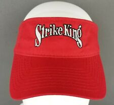 Strike King Red Visor Cap Adjustable Strap One Size Fits NEW Fishing Outdoor