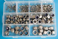 M3 - M12 Nylon Insert Nuts Assorted Pack Stainless Steel - 200 pieces