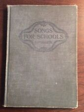 Songs For Schools (1910, Hardcover) Farnsworth SheetNoteMusic.com