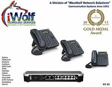 iWGS2004STD PABX Telephone System Starter KIT iWGS1, 2 IP Phones PSTN VoIP SIP