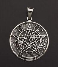 Pendentif Magie ésotérique Tetragrammaton Pentacle Argent 925 7g Ø29mm 25848