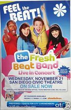 The Fresh Beat Band 2014 San Diego Concert Tour Poster -Nickelodeon, JumpArounds
