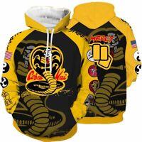 The Karate Kid Cobra Kai Strike Hard 80s Martial Art Pullover Hoodie Unisex Cool