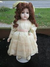 "Bru Jne Reproduction Antique French 17"" porcelain cloth Doll"