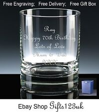 Personalised 12oz Whisky/ Spirit Glass 70th 71st 72nd 74th 76th 77th 78th 79th