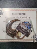 SDCC Comic Con Raptor Claw Key Chain Metal Jurassic World Park Loot crate Rare
