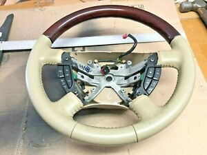 2003-2006 FORD Expedition KING RANCH woodgrain STEERING WHEEL  CRUISE Parchment