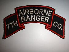 Korea War (1950-53) Scroll Us 7th Ranger Infantry Company (Airborne) Patch