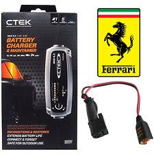 Ferrari CTEK MUS 4.3 Battery Charger and Adapter 360 F430 458 California 599 612