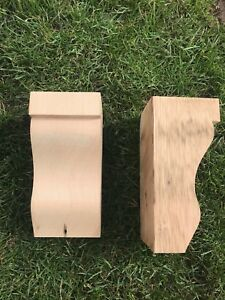 Reclaimed Wooden Corbels (Shelf Brackets) solid pine style BB (1 pair)