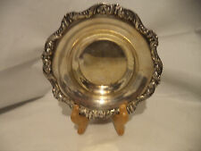 """POOLE 6"""" OLD ENGLISH SILVER PLATED CANDY DISH #5004"""