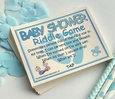 Baby Shower Games Boys Riddle Cards Funny Adult Humour Virtual Lockdown Zoom