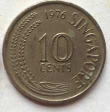 Singapore 1st Series 10 cents coin 1976