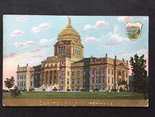 RP Vintage Postcard - USA - #16 - Capitol Helena Montana - Golden Embossed