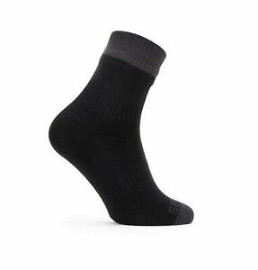 SealSkinz Waterproof Thin Ankle Length Socks - Black / Grey