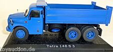 TATRA 148 S 3 BLU AUTOCARRO CASSONE 1:43 Atlas 7167105 NUOVO in scatola