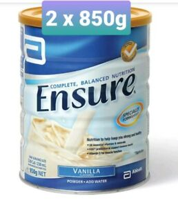 Ensure Vanilla Complete, Balanced Nutrition 2 x  850g