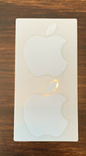 Apple Sticker Genuine New Logo 2 Total Stickers OEM Authentic White