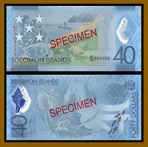 Solomon Islands 40 Dollars, 2018 P-New Specimen N.036 Comm. 40 Years Polymer Unc