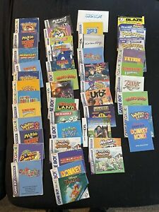 42 Spieleanleitungen - für diverse Gameboy Spiele - siehe Foto