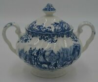 Johnson Brothers England Coaching Scenes Ironstone Passing Through Sugar Bowl