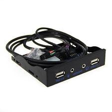 Amebay 3.5 Inch Front Panel USB Hub 2.0 with HD Audio