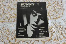 SHEET MUSIC  GEORGIE FAME  SUNNY