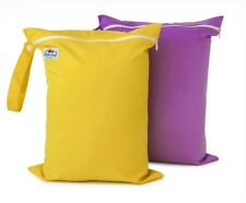 2 X Large waterproof wetbag for reusable nappy or swimwear.